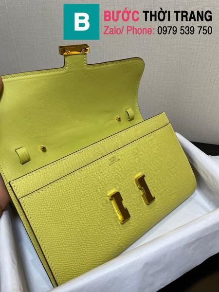 Túi xách Hermes Constance siêu cấp da epsom màu vàng chanh size 20.5cm