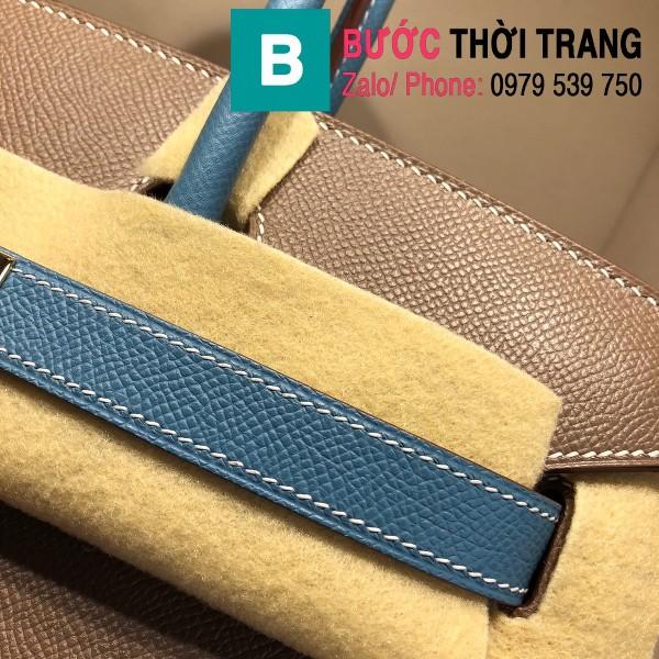 Túi xách Hermes Birkin siêu cấp da epsom màu xám xanh size 30cm
