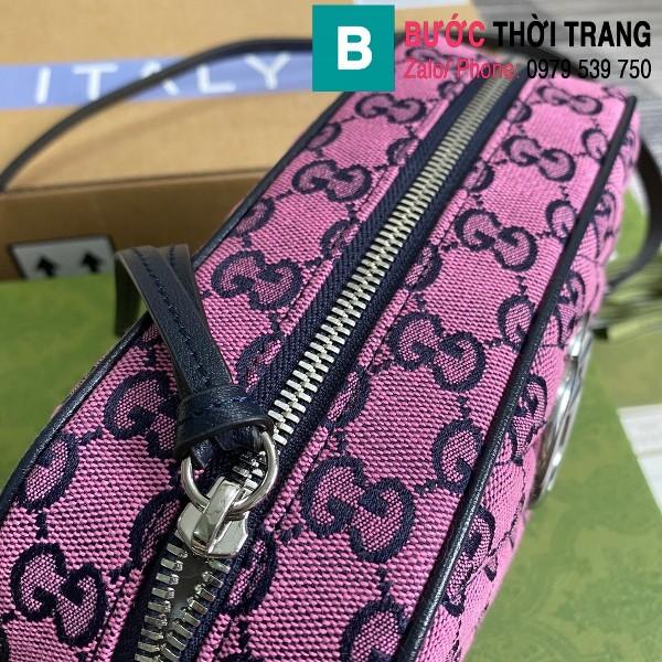 Túi xách Gucci Marmont small shoulder bag siêu cấp casvan màu tím size 24cm - 447632