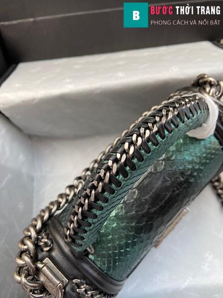 Túi xách Chanel boy siêu cấp python leather màu 8 size 20 cm - A94805