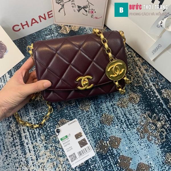 TÚi xách Chanel Small flap Bag siêu cấp màu tím size 17.5 cm - AS2189