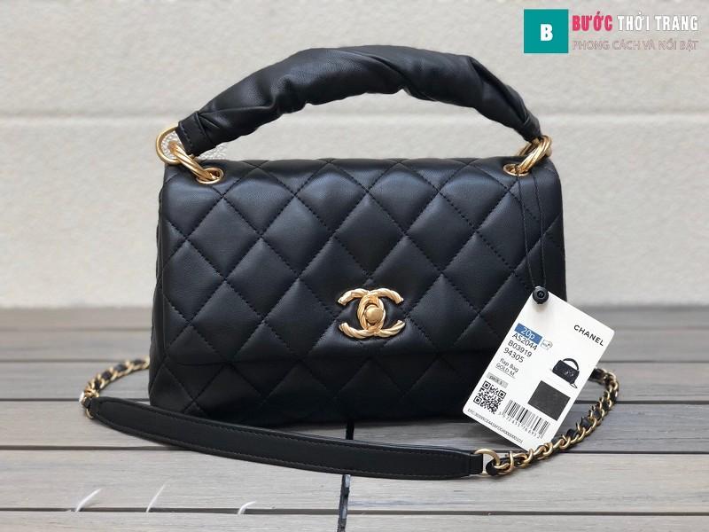 Túi xách Chanel Ohanel siêu cấp màu đen size 25 cm - AS2044