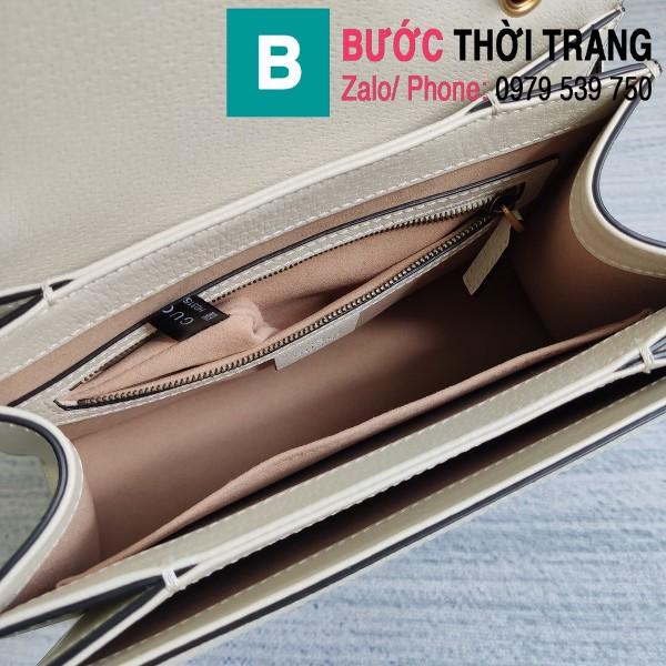 Túi xách Gucci Queen Margaret GG siêu cấp casvan viền trắng size 25.5cm - 476541
