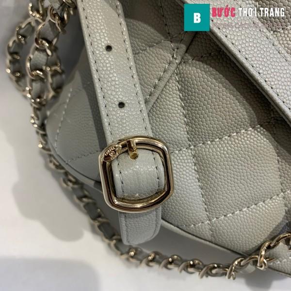 Túi xách Chanel duma backpack màu xám size 21.5 cm - AS 1371