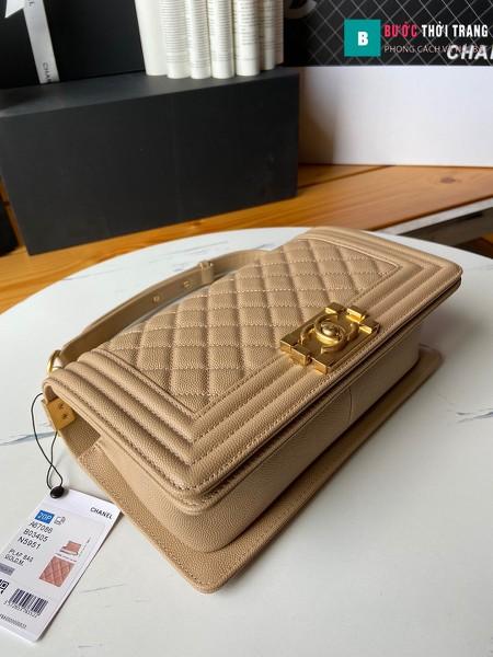 Túi xách Chanel boy siêu cấp nude size 25 cm - A67086