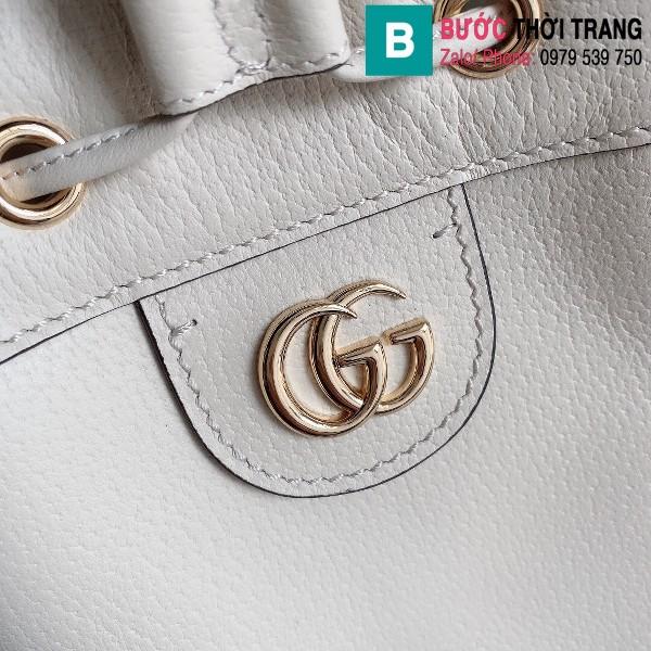 Túi xách Gucci Ophidia small bucket bag siêu cấp màu trắng size 20.5 cm - 610846
