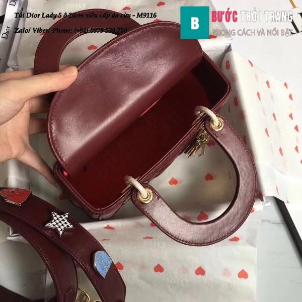 Túi Dior Lady 5 ô siêu cấp 20cm