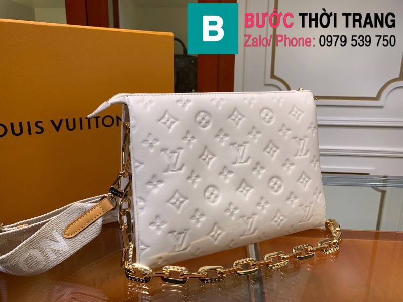 Túi xách LV Louis Vuitton Coussin siêu cấp da bê màu trắng size 26cm - M57790