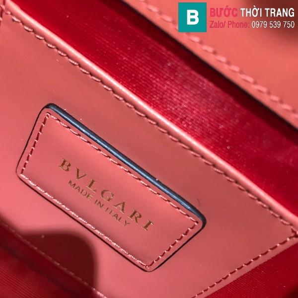 Túi xách Bvlgari serventi forever siêu cấp da bê màu cam đất size 20 cm