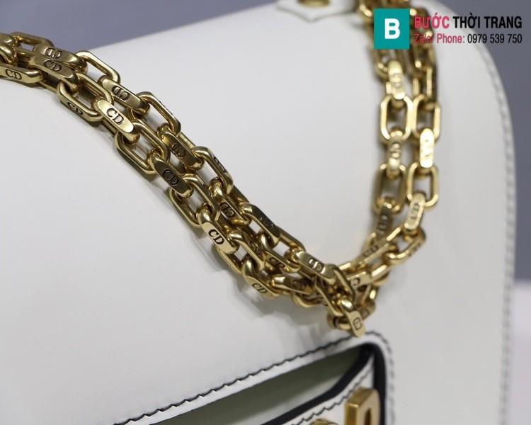 Túi xách Dior J'adior siêu cấp da trơn màu trắng size 25cm