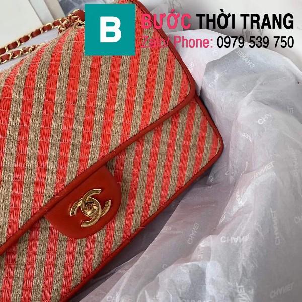 Túi đeo chéo Chanel siêu cấp mẫu mới  da bê màu đỏ size 26cm - AS2419