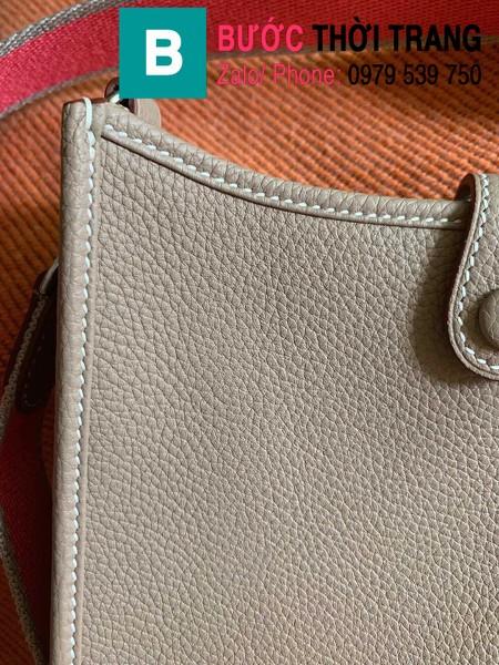 Túi xách Hermes Evelyne mini bag siêu cấp da togo màu xám size 17cm