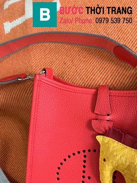 Túi xách Hermes Evelyne mini bag siêu cấp da togo màu đỏ size 17cm