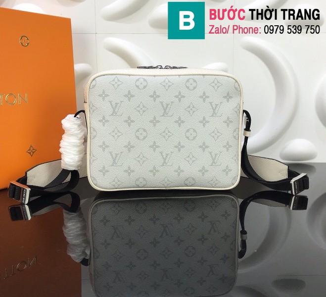 Túi Louis Vuitton Outdoor Messenger siêu cấp màu trắng size 25cm - M30243