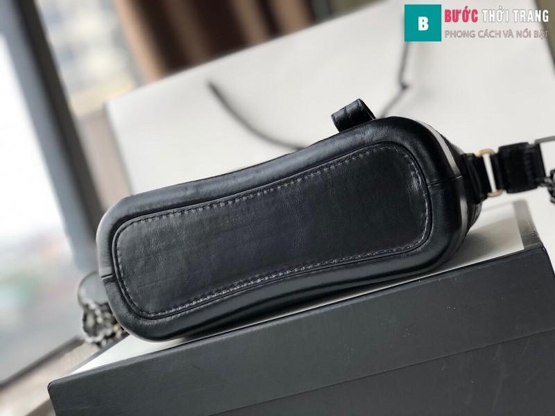 Túi xách Chanel Gabrielle small hobo bag siêu cấp màu đen size 20cm - 91810