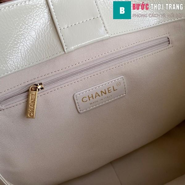 Túi xách Chanel Shopping bag siêu cấp màu trắng ngà size 37 cm - AS1943