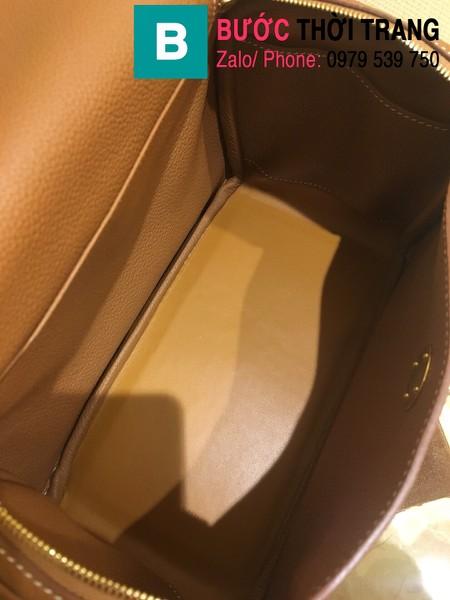 Túi xách Hermes Lindy siêu cấp da thật màu nâu size 26cm