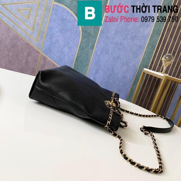 Túi xách Chanel Small Tote bag siêu cấp da bê màu đen size 31cm - AS2374