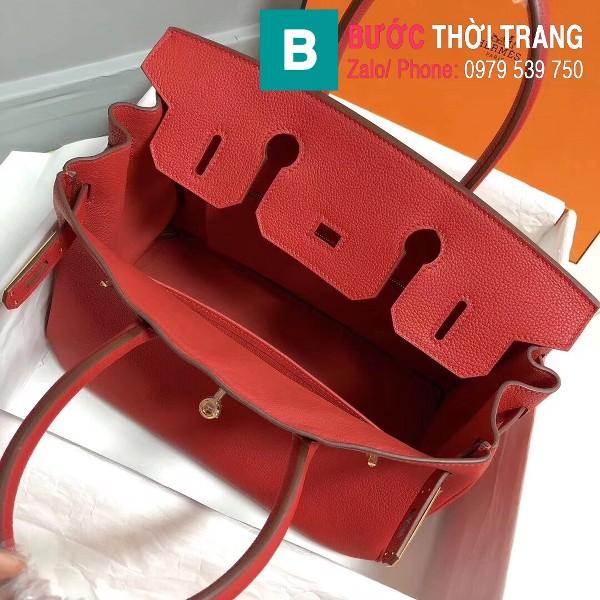 Túi xách Hermes Birkin siêu cấp da Togo màu đỏ size 30cm