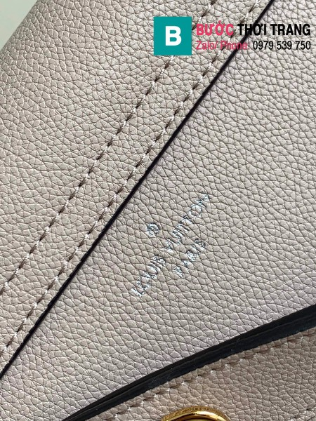 Túi xách Louis Vuitton Lockme Tender siêu cấp da bê màu xám size 19cm