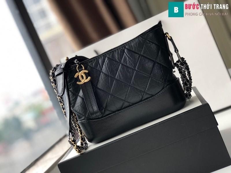 Túi xách Chanel Gabrielle hobo bag siêu cấp màu đen size 20cm - 91810