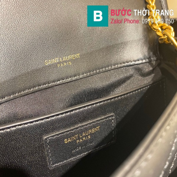 Túi xách YSL Niki siêu cấp da cừu màu đen size 22cm - 533037