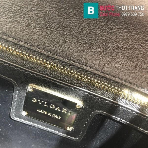 Túi xách Bvlgari Seventi Diamond Blast siêu cấp da bê màu nâu size 24 cm - B286628