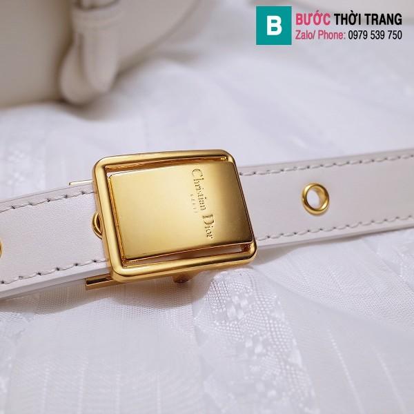 Túi xách Dior bobby siêu cấp da bê màu trắng size 22 cm