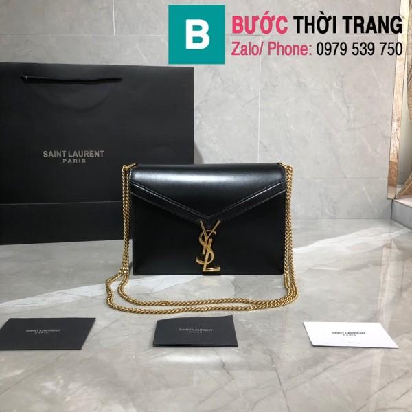 Túi xách YSLSaint Laurent Casandra bag siêu cấp màu đen size 22cm - 532750