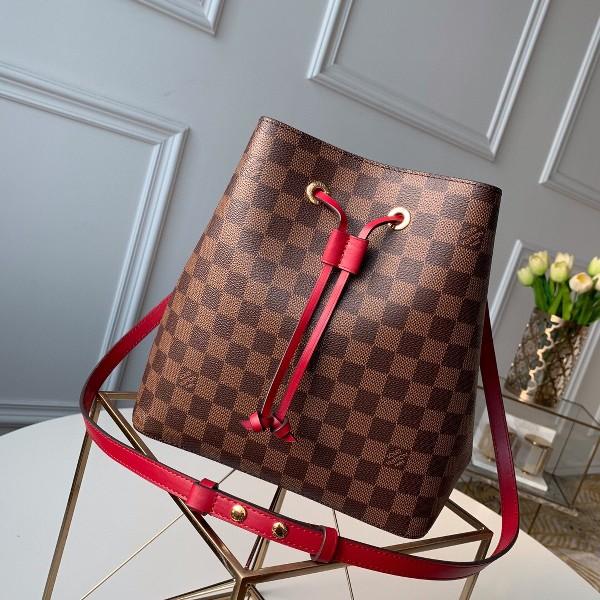 Túi xách LV Louis Vuitton Neo Noe siêu cấp caro màu đỏ size 26cm - N40214