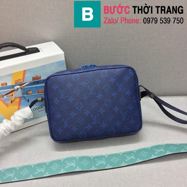 Túi xách Louis Vuitton Messenger siêu cấp monogram màu xanh tím than size 25cm - M43829