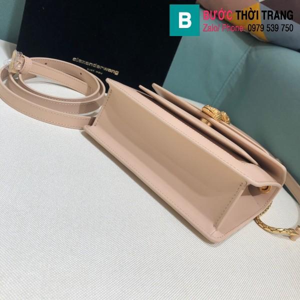 Túi xách Bvlgari Alexander Wang siêu cấp da bê màu nude size 18.5cm