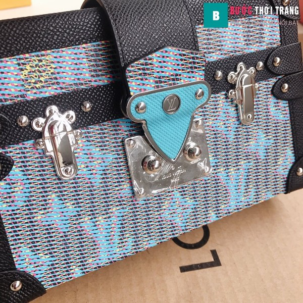 Túi xách LV Petite Malle siêu cấp màu xanh size 20 cm - M40273