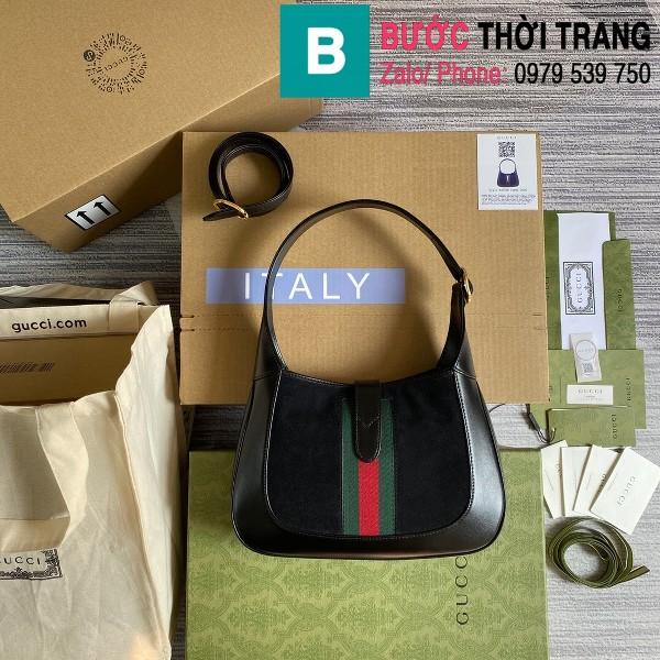 Túi xách Gucci Jackie 1961 small shoulder bag siêu cấp da bê màu đen size 28cm - 636709