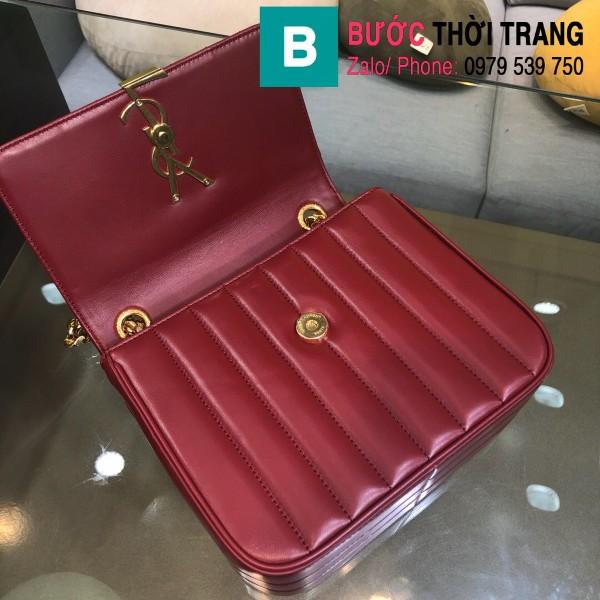 Túi xách YSL Saint Laurent Vicky bag siêu cấp da cừu non màu đỏ đô size 20.5cm - 532612