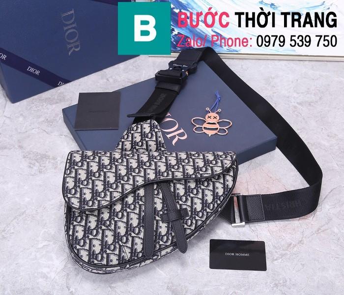 Túi xách Dior Saddle Bag siêu cấp chất liệu vải casvan màu 7 size 28.6cm