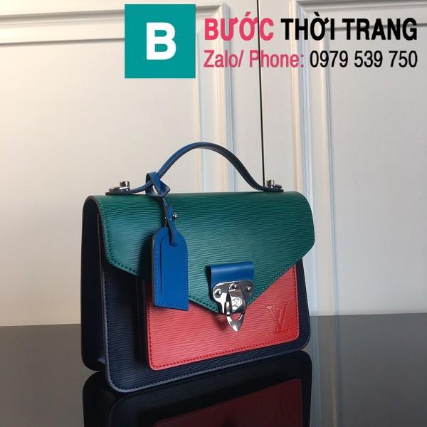 Túi xách LV Louis Vuitton Neo Monceau siêu cấp da bò sần màu xanh size 22cm - M55405