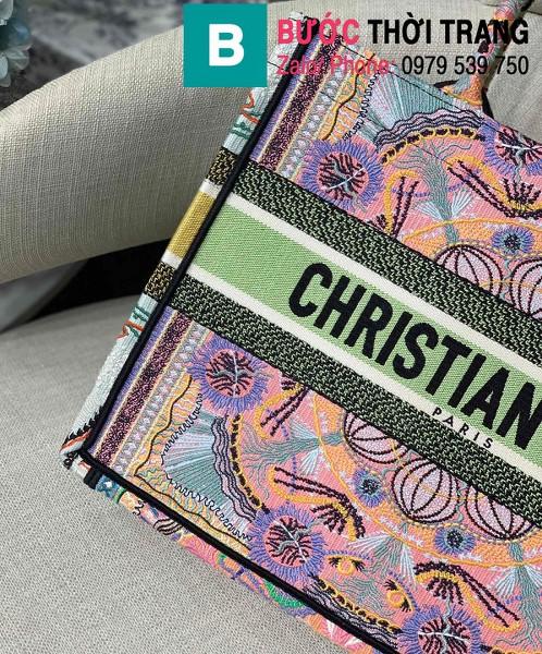 Túi xách Dior Book Tote siêu cấp chất liệu vải casvan màu 10 size 36.5cm - M1286