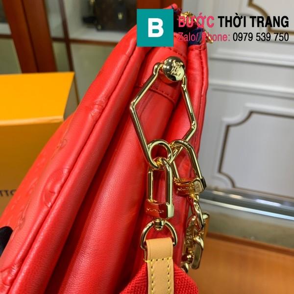 Túi xách LV Louis Vuitton Coussin siêu cấp da bê màu đỏ size 26cm - M57790