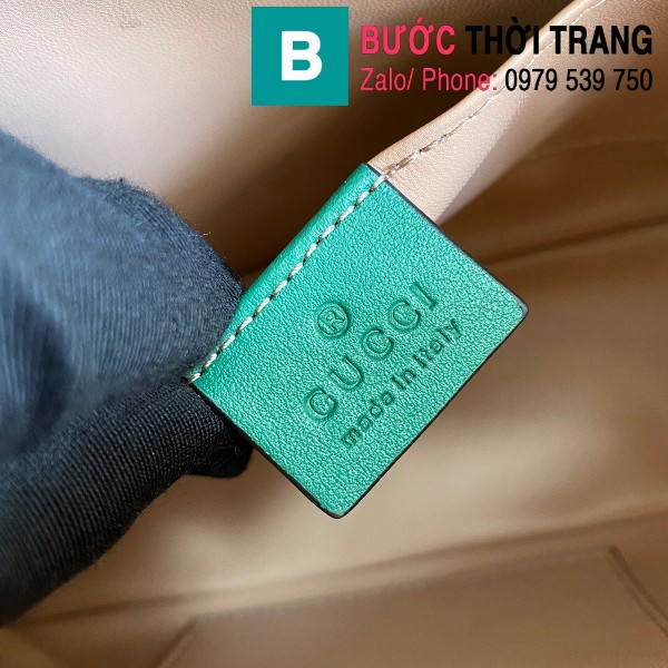 Túi xách Gucci Ophidia Small Shoulder siêu cấp da trăn màu xanh đen size 26cm - 499621