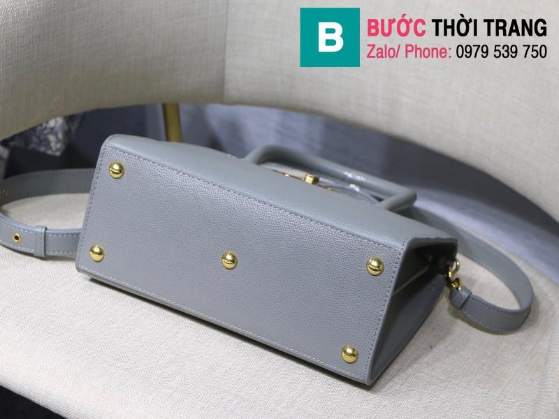 Túi xách Dior St. Honoré Bag siêu cấp da bê màu xám size 25cm