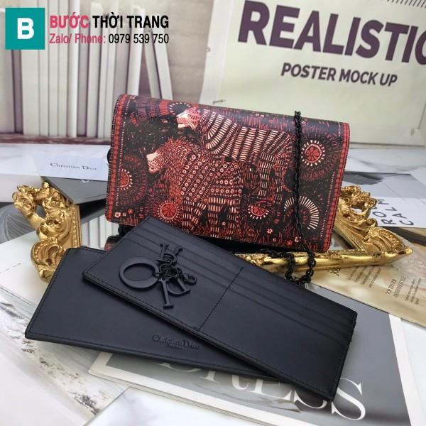Túi xách Dior Wallet On Chain siêu cấp da cừu màu 3 size 22 cm