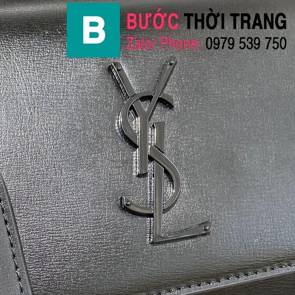 Túi xách YSL Saint Laurernt Sunset siêu cấp da bê màu đen size 22cm - 442906