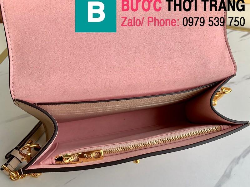 Túi xách Louis Vuitton Mylockme Clutch siêu cấp da bê màu hồng nhạt size 23.5 cm - M56087