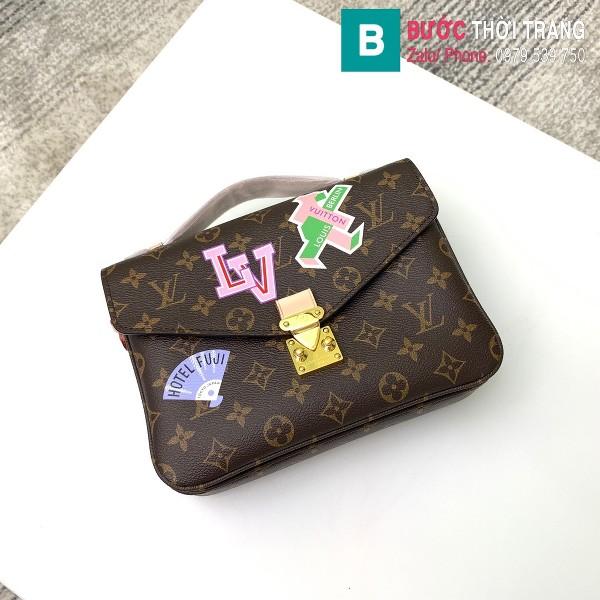 Túi Louis Vuitton Pochette Mettis siêu cấp màu nâu họa tiết size 25 cm - M40780