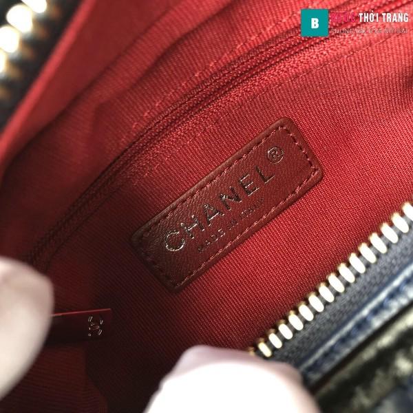 Túi xách Chanel Gabrielle small hobo bag siêu cấp màu xanh đen size 20cm - 91810