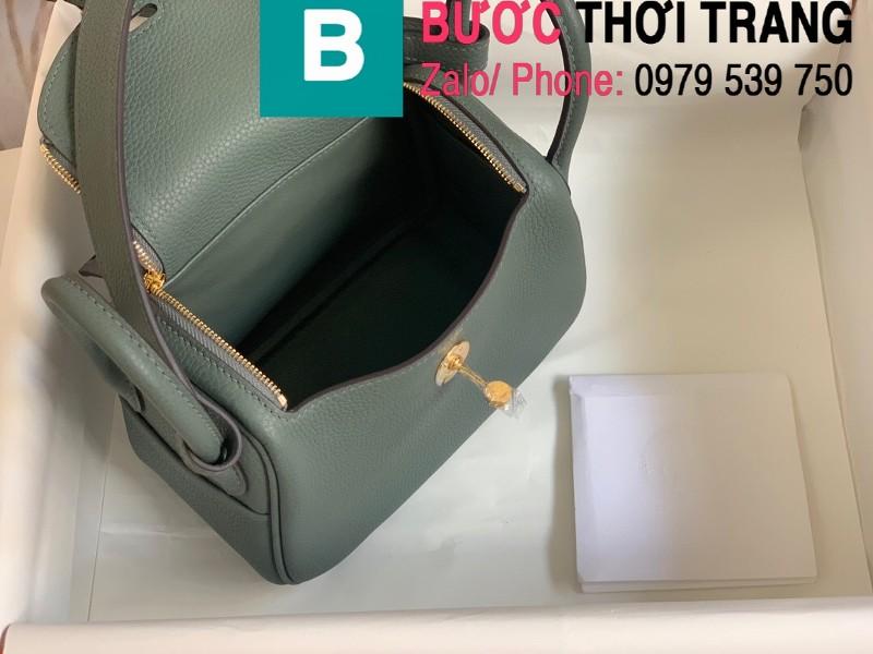 Túi xách Hermes Lindy siêu cấp da thật màu đen size 26cm
