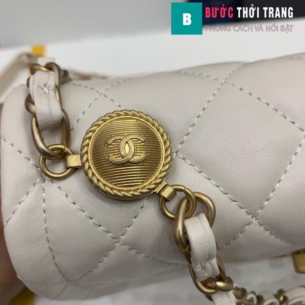 Túi xách Chanel Crossbody Bag siêu cấp màu trắng size 22 cm - AS2055