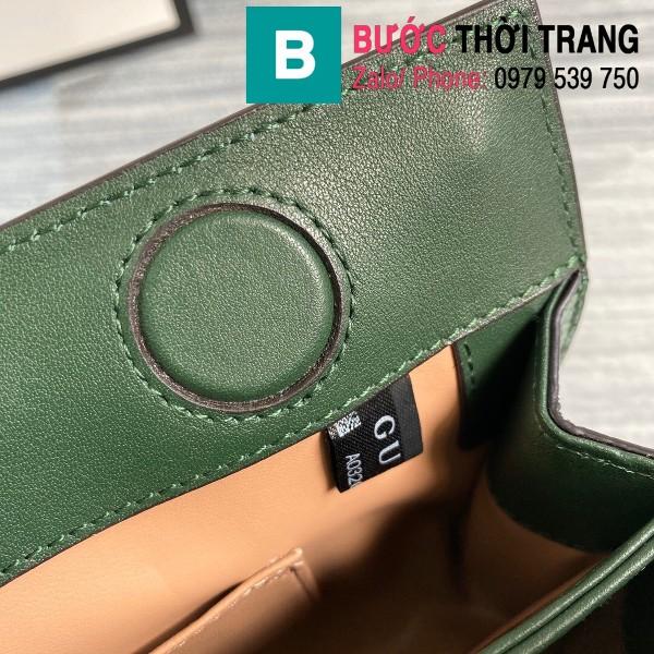 Túi xách Gucci Ophidia Small Shoulder siêu cấp da trăn màu xanh đen size 26cm - 503877