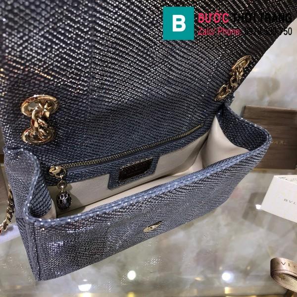 Túi xách Bvlgari Serventi Cabochon siêu cấp da rắn màu 2 size 22cm